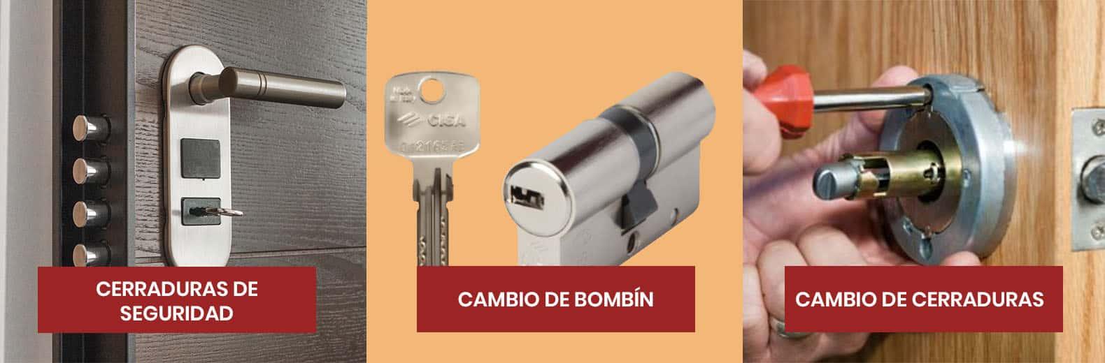 cerraduras de seguridad y cambio de bombin